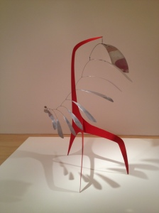 Calder mobile sculpture steel aluminium leaves construction Whitney museum