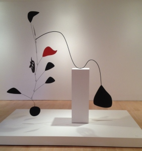 Calder mobile sculpture weight counterweight construction Whitney museum