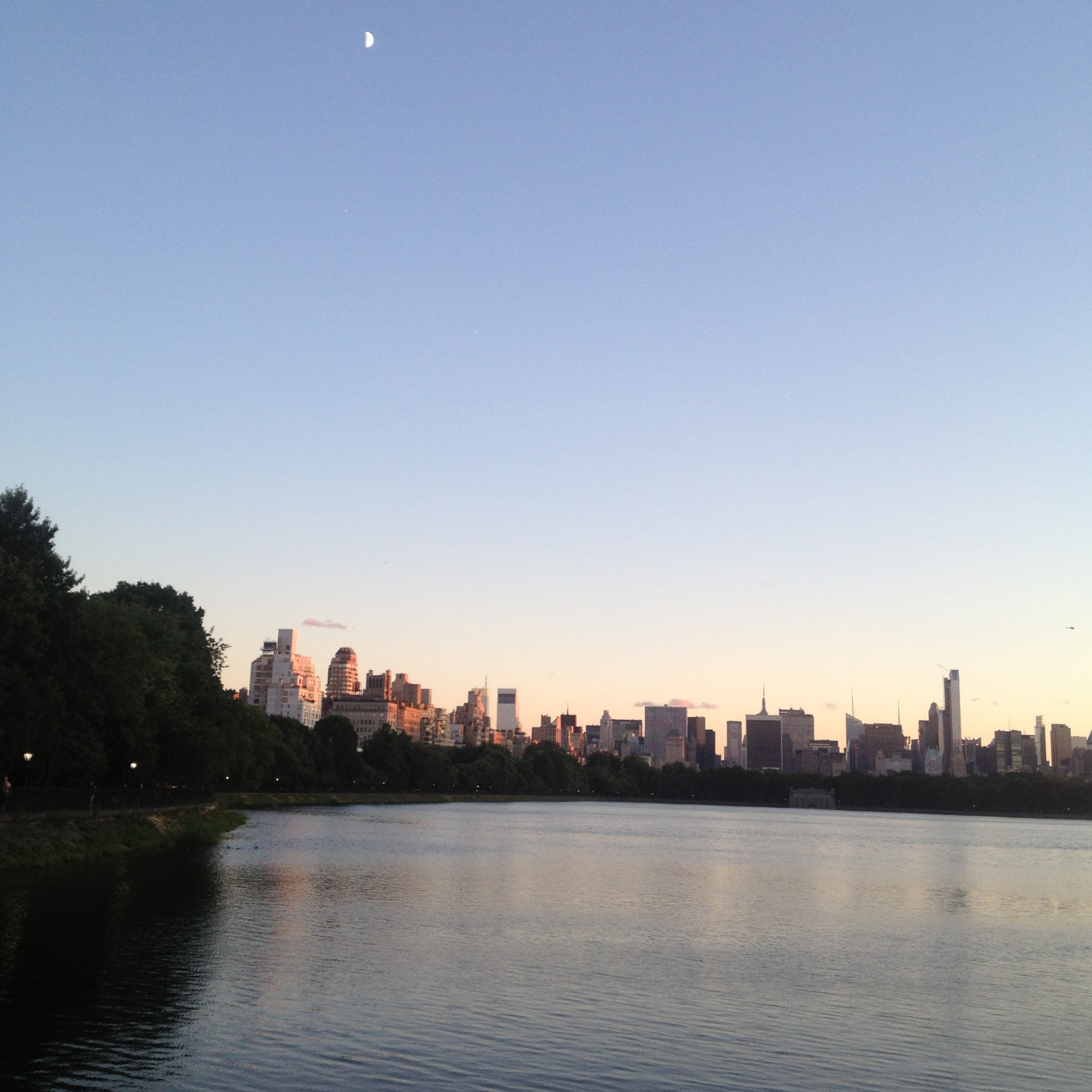 Central Park Manhattan: Central Park Reservoir At Sunset, Or Finding Some Peace In